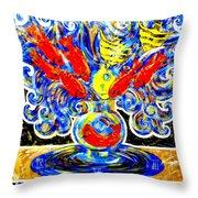 Fish Bouquet Throw Pillow