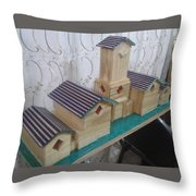 Fish Box Cover Throw Pillow