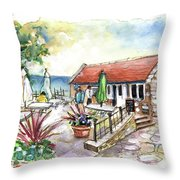 Fish Box In Robin Hoods Bay  Throw Pillow