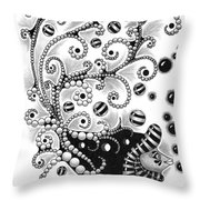 Fish Bubbles Throw Pillow