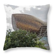 Fish By Frank Owen Gehry - Olympic Village - Barcelona Spain Throw Pillow
