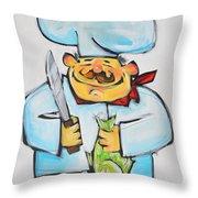 Fish Chef Throw Pillow