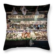 Fish Counter Throw Pillow