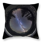 Fish-eye Lens Panorama Of Milky Way Throw Pillow