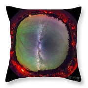 Fish-eye Panorama Of Milky Way Throw Pillow
