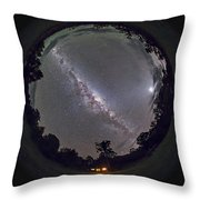 Fish-eye Panorama Of The Southern Night Throw Pillow
