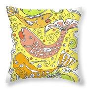 Fish Fish Throw Pillow