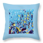 Fish Flurry Throw Pillow