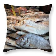Fish For Sale Throw Pillow