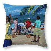 Fish For Supper Throw Pillow
