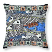 Fish Group Throw Pillow