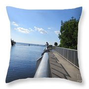 Fish Here Throw Pillow