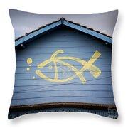 Fish House Throw Pillow