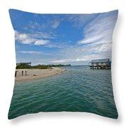 Fish Hut 2 Throw Pillow