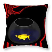 Fish In A Bowl Throw Pillow
