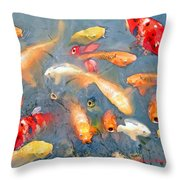 Fish In A Lake Throw Pillow