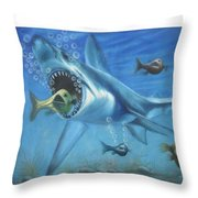 Fish In Action Throw Pillow