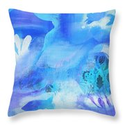 Fish In Blue Throw Pillow