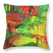 Fish In Green Throw Pillow