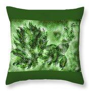 Fish In Green Mosaic 2 Throw Pillow