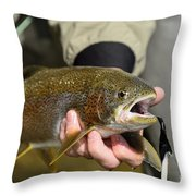 Fish In Hand Throw Pillow
