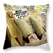 Fish Market Throw Pillow