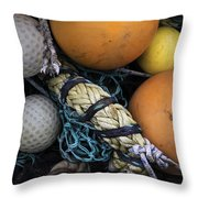 Fish Netting And Floats 0129 Throw Pillow
