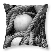 Fish Netting Husavik Iceland 3759 Throw Pillow