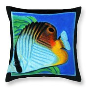 Fish Number Four Throw Pillow