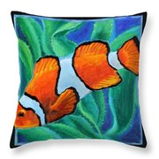 Fish Number Three Throw Pillow
