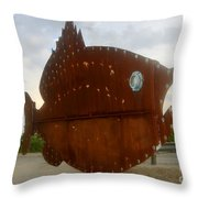 Fish Of Steel Throw Pillow