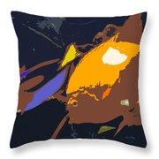 Fish Of The Tropics Throw Pillow