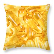 Fish Oil Capsules In Filled Frame Format  Throw Pillow
