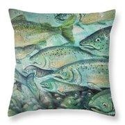Fish On The Wall Throw Pillow