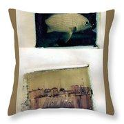 Fish Over Paris Throw Pillow