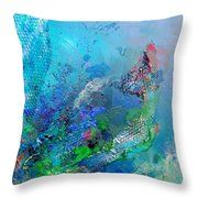 Fish Scales Throw Pillow