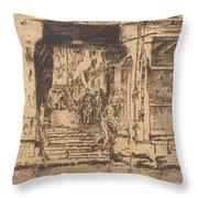 Fish-shop, Venice Throw Pillow