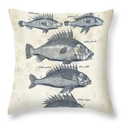 Fish Species Historiae Naturalis 08 - 1657 - 16 Throw Pillow