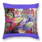Fish Symphony  Throw Pillow