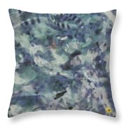 Fish Thrashing Throw Pillow