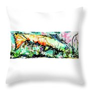 Fish Under Water Throw Pillow