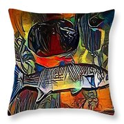 fish - My WWW vikinek-art.com Throw Pillow
