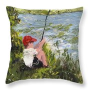 Fisher Boy Throw Pillow