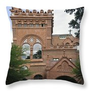 Fisher Fine Arts Library Historical Place Throw Pillow