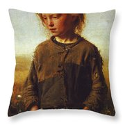 Fisher Girl Throw Pillow