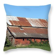 Fisher Road Barn 2 Photograph Throw Pillow