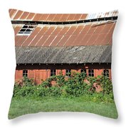Fisher Road Barn 3 Photograph Throw Pillow