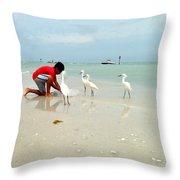 Fisherboy Throw Pillow