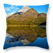 Fishercap Snowcap Reflections Throw Pillow