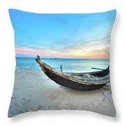 Fisherman Boat Throw Pillow